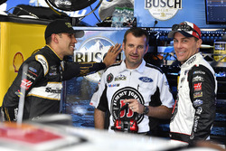 Aric Almirola, Stewart-Haas Racing, Ford Fusion Smithfield/Waffle House, Rodney Childers, and Kevin Harvick, Stewart-Haas Racing, Ford Fusion Jimmy John's