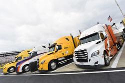 Joe Gibbs Racing haulers