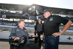 Sam Schmidt with Jack Harvey, Meyer Shank Racing with SPM Honda team owner Jim Meyer
