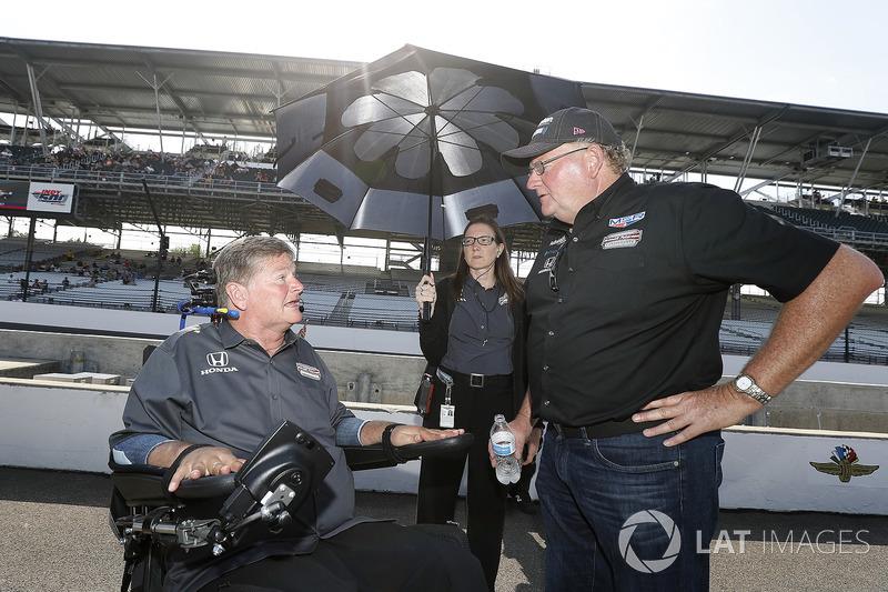 Sam Schmidt met Jack Harvey, Meyer Shank Racing met SPM Honda teameigenaar Jim Meyer