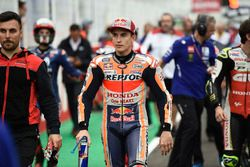 Marc Marquez, Repsol Honda Team, mentre i piloti lasciano la griglia