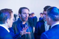 Driver Jean Eric Vergne of TECHEETAH talks to guests