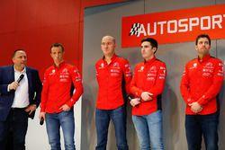 Yves Matton with Citroen WRC drivers Kris Meeke and Craig Breen