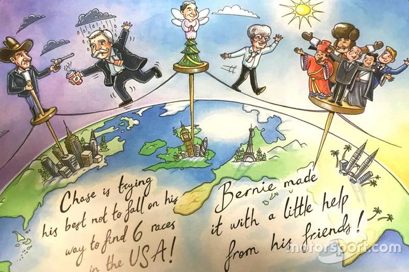 Kerstkaart van Bernie Ecclestone