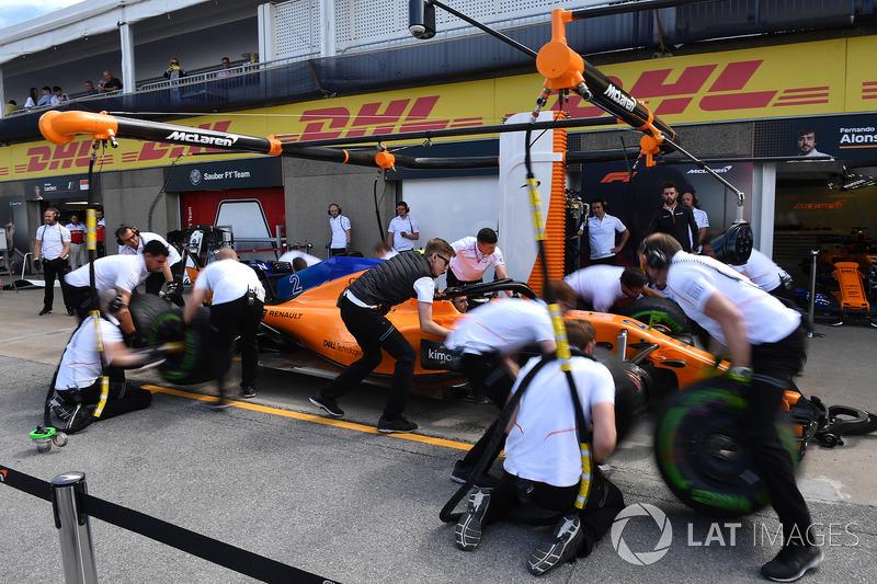 Pit stop de McLaren