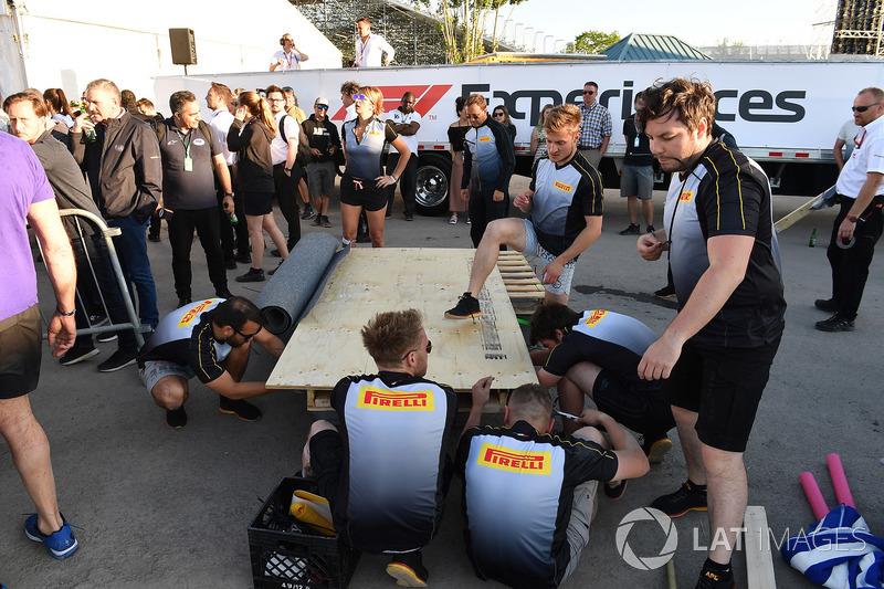 Pirelli у перегонах на плотах