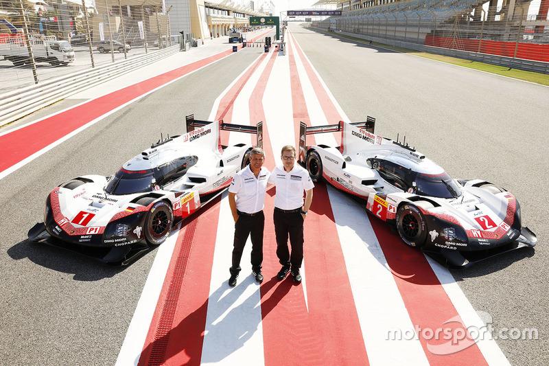 Fritz Enzinger, Vice President LMP1, Porsche Team, Andreas Seidl, Team Principal Porsche Team with #