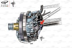 Toro Rosso STR13 suspensión delantera