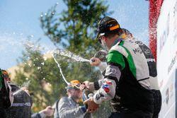 #44 Magnus Racing Audi R8 LMS GT3, GTD: John Potter, Andy Lally, Champagne