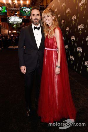 Jimmie Johnson y su esposa Chandra