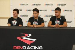 2017 NASCAR Drive for Diversity participants Fabian Welter , Ryan Vargas and Armani Williams at Bet