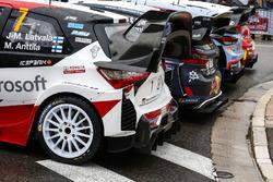صورة جماعية لسيارات بطولة العالم للراليات 2018