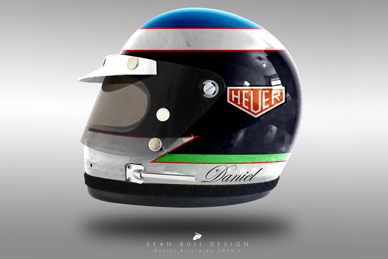 Casco concepto 1970 de Daniel Ricciardo