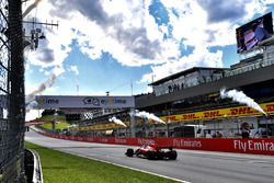 Sebastian Vettel, Ferrari SF71H crosses the line