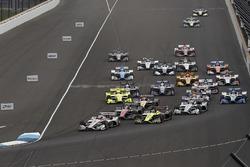 Start: Will Power, Team Penske Chevrolet vooraan