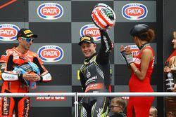 Podium: winnaar Jonathan Rea, Kawasaki Racing