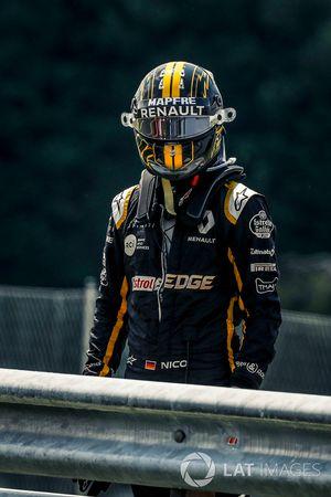 Nico Hulkenberg, Renault Sport F1 Team detenido en la pista