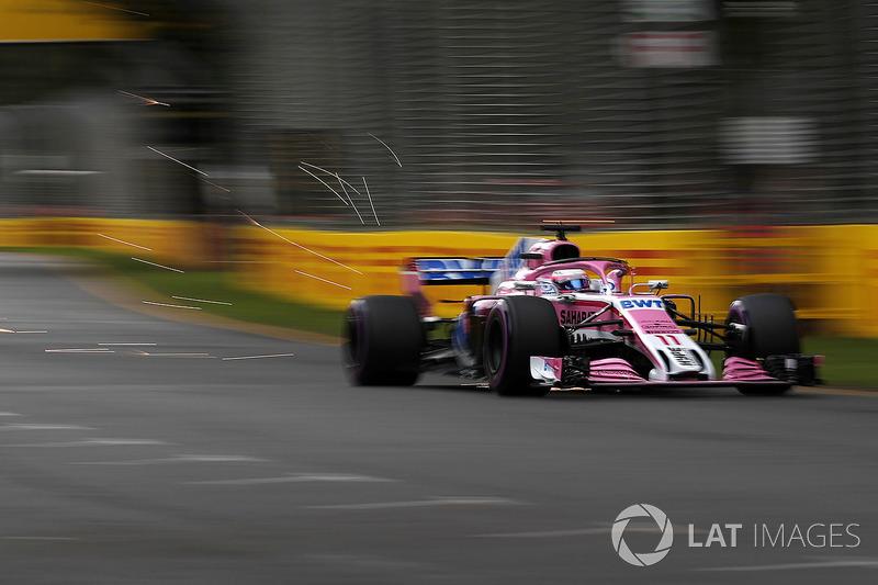 Sergio Perez, Force India VJM11 sparks