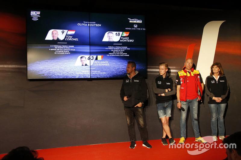 Tom Coronel, Tiago Monteiro, Benjamin Lessennes, Boutsen Ginion Racing