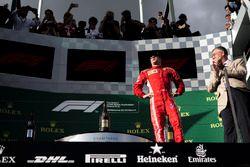 Kimi Raikkonen, Ferrari on the podium