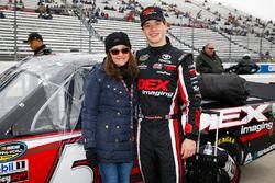 Harrison Burton, Kyle Busch Motorsports, Toyota Tundra DEX Imaging with mom Kim