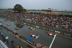 Startaufstellung zum GP Australien 1989 in Adelaide