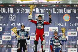 Подиум: победитель Дмитрий Колтаков, второе место Мартин Хаарахилтунен, третье место Дмитрий Хомицевч
