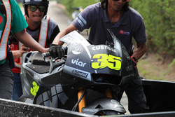 Cal Crutchlow, Team LCR Honda crashed bike