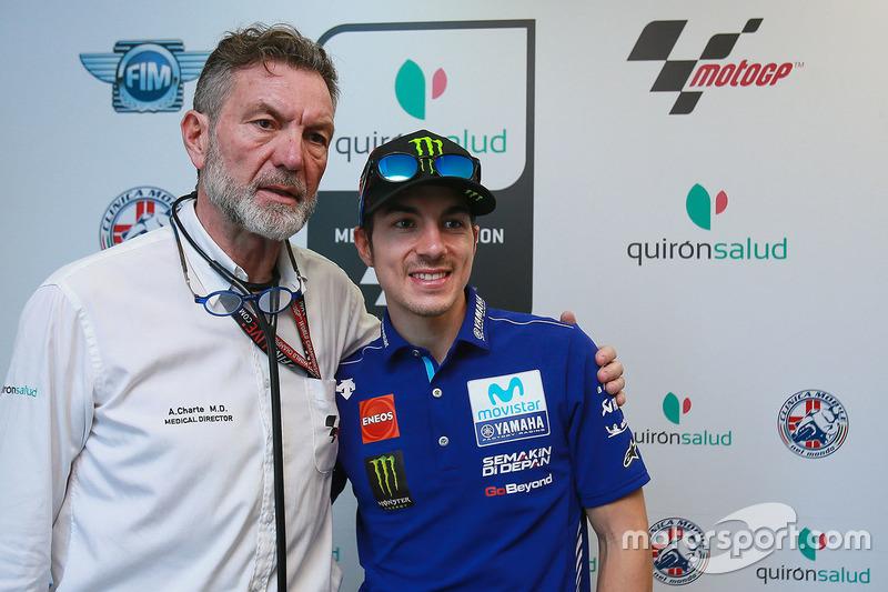 Maverick Viñales, Yamaha Factory Racing, Dr Angel Charte, MotoGP Medical Director