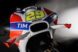La moto d'Andrea Iannone, Ducati Team