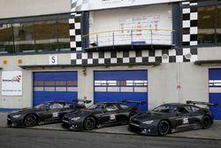 All three BMW M6 GT3 of BMW Team Schubert Motorsport