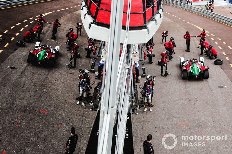 Daniel Abt, Audi Sport ABT Schaeffler, Audi e-tron FE05, pit stops