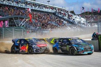 Андреас Баккеруд, Monster Energy RX Cartel, Audi S1, и Тимми Хансен, Team Hansen MJP, Peugeot 208 WRX