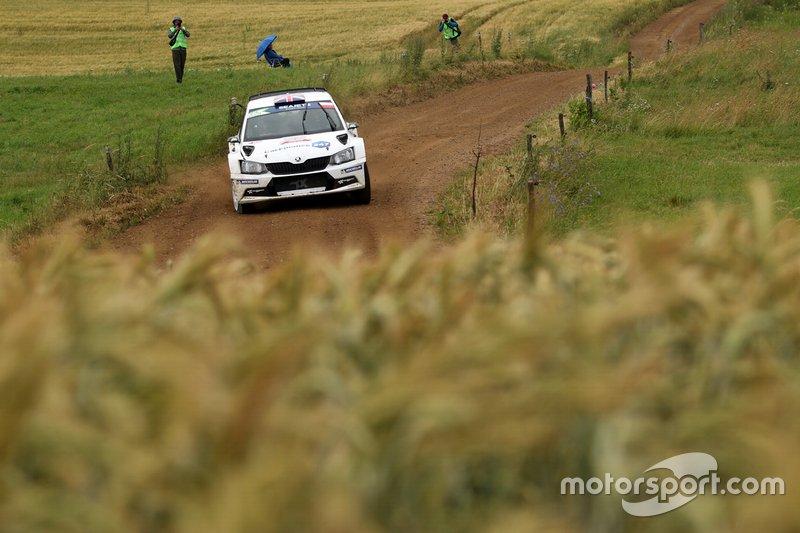 Chris Ingram, Ross Whittock, Skoda Fabia R5, FIA ERC, Rally Poland