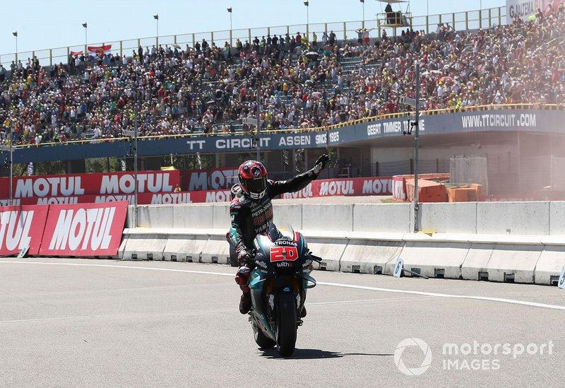 Ganador de la pole Fabio Quartararo, Petronas Yamaha SRT