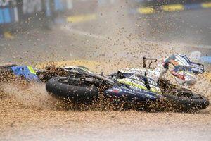 Chute de Joan Mir, Team Suzuki MotoGP, Karel Abraham, Avintia Racing