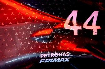 Bodywork on the car of Lewis Hamilton, Mercedes AMG F1 W10