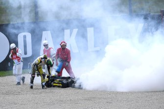 Francesco Bagnaia, Pramac Racing crash