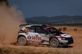 Kajetan Kajetanowicz, Maciej Szczepaniak, Skoda Fabia R5, Rally Sardegna, WRC 2