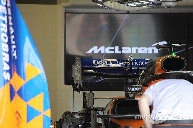 Detalle técnico del coche de McLaren