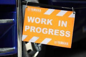 Yamaha work in progress sign