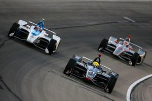 Spencer Pigot, Ed Carpenter Racing Chevrolet, Felix Rosenqvist, Chip Ganassi Racing Honda