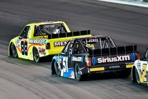 Matt Crafton, ThorSport Racing, Ford F-150 Ideal Door/Menards and Christian Eckes, Kyle Busch Motorsports, Toyota Tundra SiriusXM