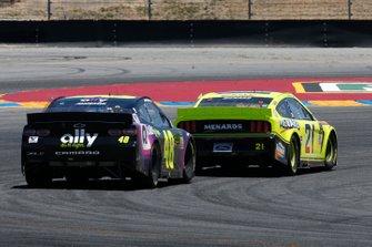 Jimmie Johnson, Hendrick Motorsports, Chevrolet Camaro Ally, Paul Menard, Wood Brothers Racing, Ford Mustang Menards / Richmond
