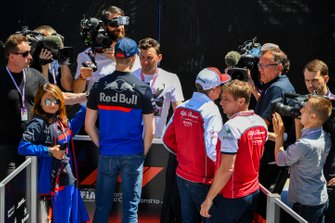 Daniil Kvyat, Toro Rosso and Kimi Raikkonen, Alfa Romeo Racing speak to the media