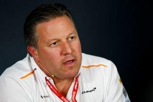 Zak Brown, Executive Director, McLaren,alla conferenza stampa dei team principals
