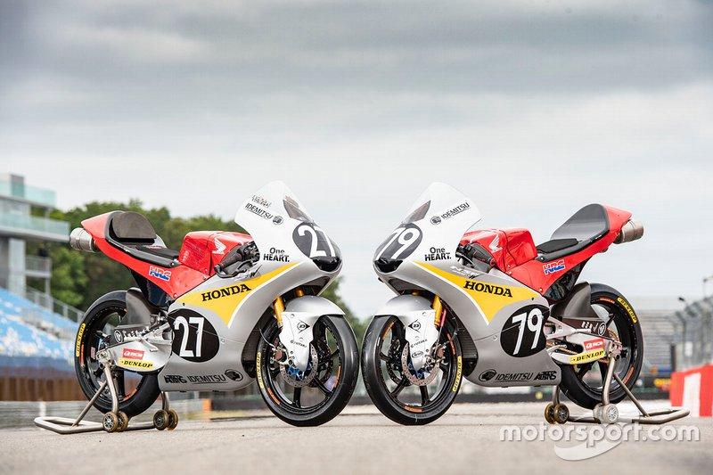 Bikes of Toba Kaito and Ai Ogura, Honda Team Asia