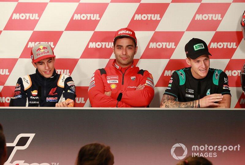 Marrquez, Danilo Petrucci, Ducati Team, Fabio Quartararo, Petronas Yamaha SRT