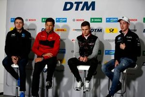 Press Conference, Paul Di Resta, R-Motorsport, Loic Duval, Audi Sport Team Phoenix, Jonathan Aberdein, Audi Sport Team WRT, Joel Eriksson, BMW Team RBM