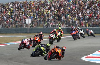 Pol Espargaro, Red Bull KTM Factory Racing, Valentino Rossi, Yamaha Factory Racing, Francesco Bagnaia, Pramac Racing, Johann Zarco, Red Bull KTM Factory Racing